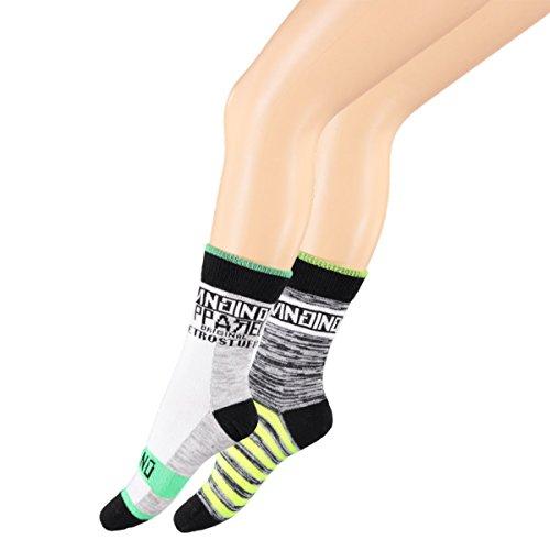 Vingino VB Socks Varbie 2-Pack Jungen Socken (39-42, Grey Mele)
