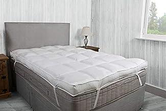 اللحاف الذهبي لباد فندقي فاخر لحماية المرتبة، مقاس كينغ 160 ب 200 سم