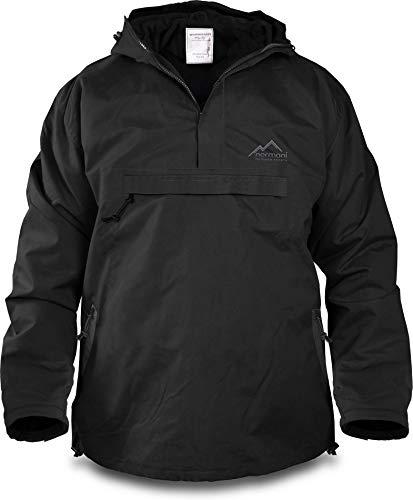 normani Winddichte Funktions-Jacke für Damen und Herren von S-4XL Farbe Schwarz Größe L