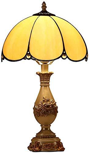 Sala De Lámpara De Mesa De Noche Manchado Lámpara De Mesa De Cristal De Tiffany Jardín Restaurante Arte De Colores Cálidos