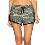 Festieano Camo Army Camouflage Lady Swim Trunks Pajama Shorts Mini Womens Shorts by
