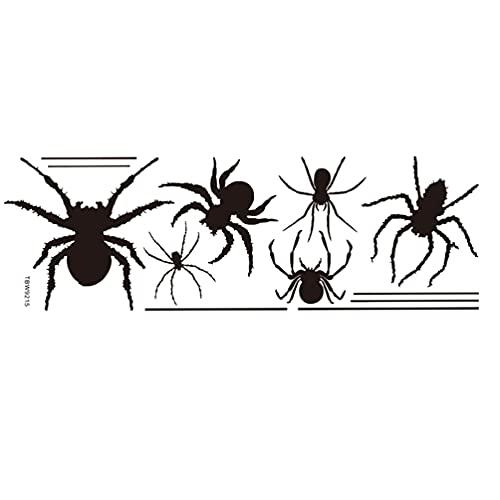 LUOEM 1 Hoja de Pared Pegatina de Araña Extraíble PVC Pared Calcomanía Horror Arañas Decorativas