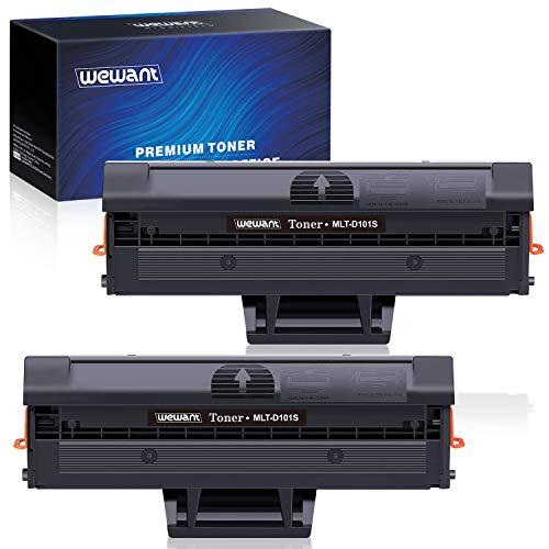 Wewant Toner D101S D101L Ersatz für Samsung MLT-D101S Tonerkartusche Kompatibel mit Samsung ML-2160 ML-2161 ML-2162 ML-2165 ML-2168 SCX-3400 SCX-3400F SCX-3401 SCX-3405 SF-760, 2 Schwarz