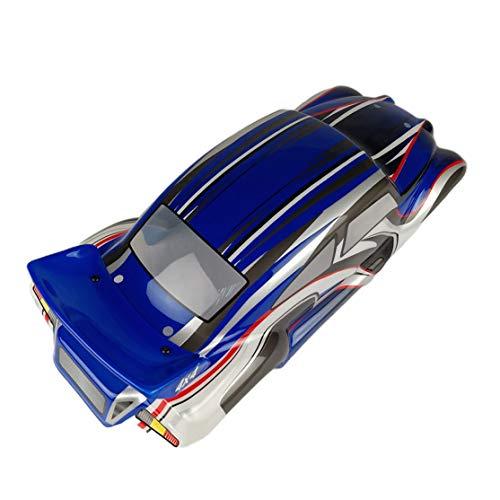 Kaemma 1/10 RC Drift Car PVC Karosserie Hülle für VRX R0060BL / R0060G / R0060R / R0205 / R0206 / R0207 On-Road-Auto (Blau)