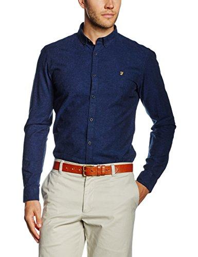 FARAH® Herren Steen Freizeithemd, Blue (True Blue), (Hersteller Größe: X-Large)
