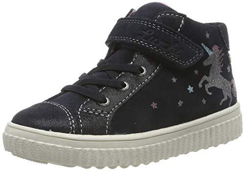 Lurchi Mädchen YUNA-TEX Hohe Sneaker, Blau (Atlantic 22), 35 EU