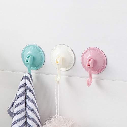 Ganchos de succión potentes de plástico suave para colgar en la pared, gancho con ventosa, ganchos para baño, cocina, ventanas, bolsas, abrigos, gorras, toallas (3 unidades)