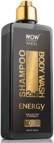 Glamorous Hub WOW Energy 2 en 1 Champú + Gel de Baño Sin Parabenos Sulfatos Siliconas y Color 250 ml (El Embalaje Puede Variar)