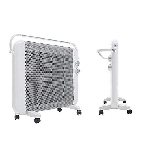 Wsjfc Calefacción eléctrica móvil Vertical Horno de Calentamiento rápido montado en la Pared Calentador de Agua instantáneo silencioso para el hogar Control de Tres etapas Tendedero Integrado desp