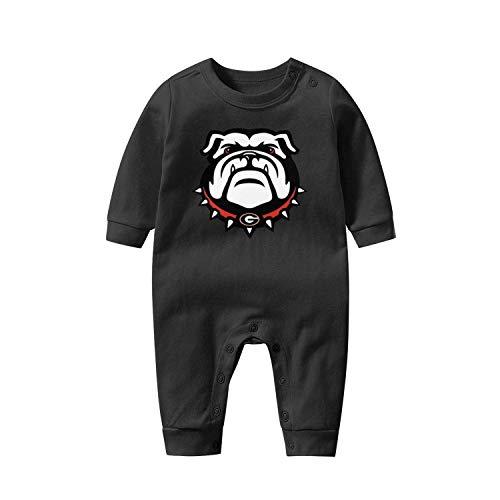Georgia Bulldogs Baby Boys Girls Long Sleeve Baby Onesie Organic Baby's Creeper