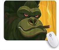 KENADVI マウスパッド 個性的 おしゃれ 柔軟 かわいい ゴム製裏面 ゲーミングマウスパッド PC ノートパソコン オフィス用 デスクマット 滑り止め 耐久性が良い おもしろいパターン (タフなゴリラ喫煙葉巻)