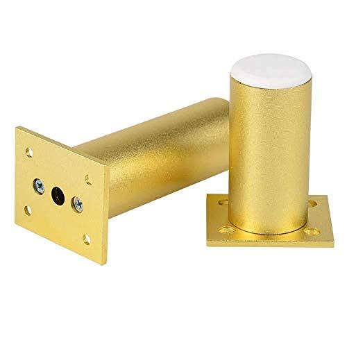 GXT Mesa y Silla Pies 4 × pies de Oro de Muebles Ajustables cilíndricos Soporte de la Columna Mueble de baño Mueble de televisión pies de Metal de la Pierna Durable (Size : 8cm)