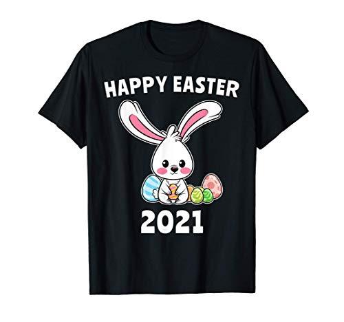Coniglietto Di Pasqua Buona Pasqua 2021 Uova Di Pasqua Maglietta