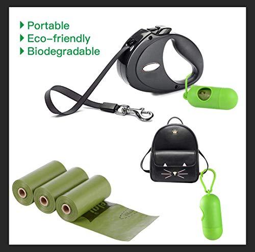 Dog Poop Bags Biodegradable 26 Rolls (390 Counts) Dispenser, Scented Leak-Proof Dog Waste Bags 5