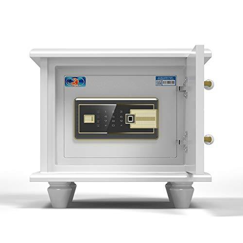 Haushalt Nachttresor Kleiner intelligenter Safe versteckter Safe TV-Schließfach intelligenter Diebstahlschutz Yale-Schloss, europäisches Design (Color : Weiß, Size : 42 * 46 * 45cm)