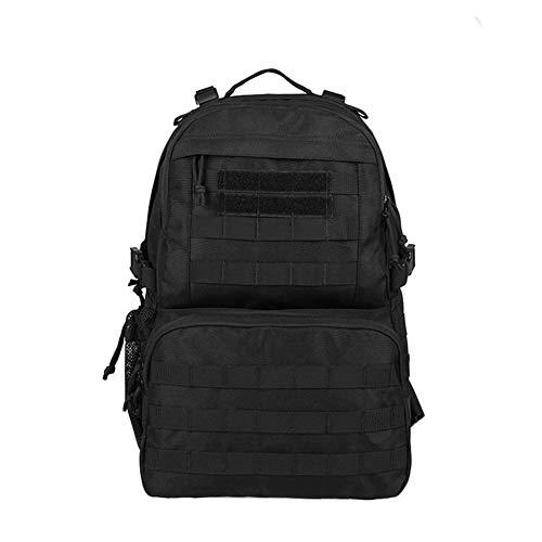CHENGDABAO Outdoor-Bergsteigen-Rucksack, Militär-Enthusiasten Taktische Tarnung Militärtasche, wasserdichte Und Atmungsaktive Sportgeräte 32L (Color : Black)