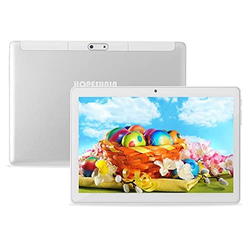 HOPESUNIN Tableta Android de 10 Pulgadas, Equipada con Android 10.0 ultrarrápida, 4GB RAM, 64GB ROM-certificación gsm de...