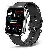 """Ezanaki 1.69"""" Reloj Inteligente Hombre Mujer, Impermeable IP67 con Monitor de Sueño Pulsómetros Cronómetros, Notificación Inteligente, Podómetro, Cronómetro, para Android iOS, Negro"""