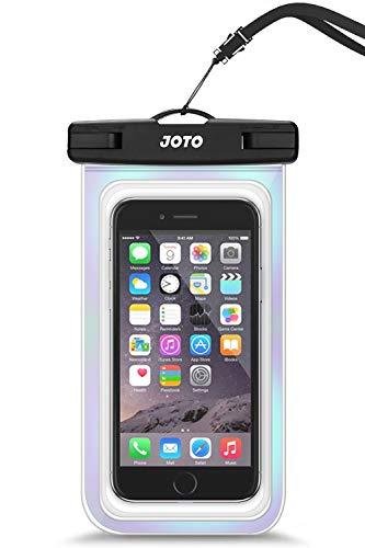 JOTO Bolsa Estanca Móvil Universal, Funda Impermeable para iPhone 12 Mini/Pro/Pro MAX/11/XS/XR/8 Plus/7 Plus, Galaxy Note10+/S20 Ultra/S20+/S10e, Huawei hasta 6,9' Diagonal -Brillo