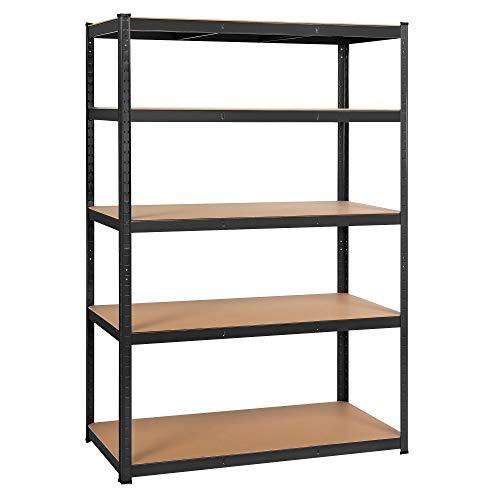 YAHEETECH Storage Shelves 5-Tier Industrial Heavy Duty Garage Shelving Adjustable Storage Rack Organiser 47 x 235 x 71in