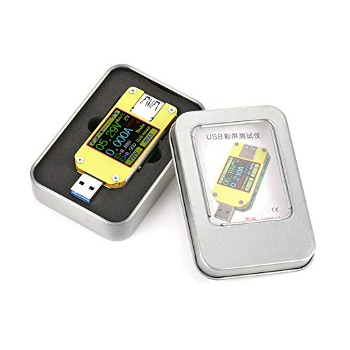 Medidor de corriente Probador de voltaje Multímetro USB Seguridad de la batería para la aplicación Probador de pantalla a color USB 3.0(UM34C)