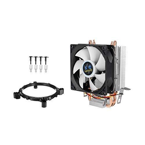 Duradero 3Pin Square Fan CPU Refrigerador de calor Velocidad de disipador de calor de hasta 2100 RPM FANS MUTE DE ENFRIENCIA PARA INTEL LGA775 / 1156/1155 AMD / AM2 / AM3 CPU 90mm Fácil de montar