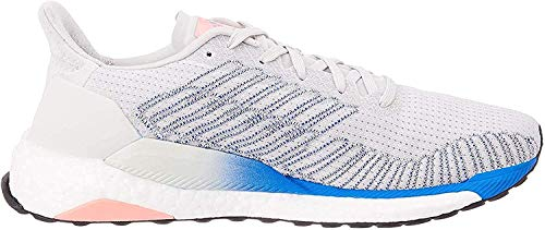 adidas Damen Solarboost 19 Road Running Shuhe, Grau (Grey/Glory Blue/Light Flash Red), 41 1/3 EU