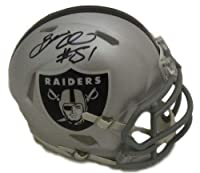 Bruce Irvin Autographed/Signed Oakland Raiders Speed Mini Helmet JSA