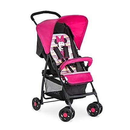 Hauck Sport Silla de paseo ligera y practica para bebes de 0 meses hasta 15 kg, sistema de arnés de 5 puntos, respaldo reclinable, plegable, Rosa (Minnie Geo pink)