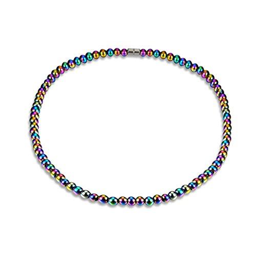 unknows Collar de hematita con Terapia magnética Salud curativa Joyería Unisex Collar Colorido Colgante Regalo de Acción de Gracias de Birthbay Collar Decorativo de Estilo Colorido
