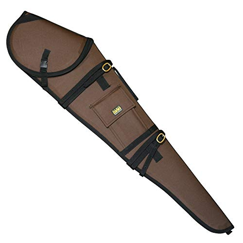 TrailMax Guardian Rifle Scabbard, Gun Case, Accommodates 30 inch Barrel & 56mm Scope with 1 inch Turrets, Secure on a Horse or ATV, Water Resistant 600 Denier Poly Shell, Brown