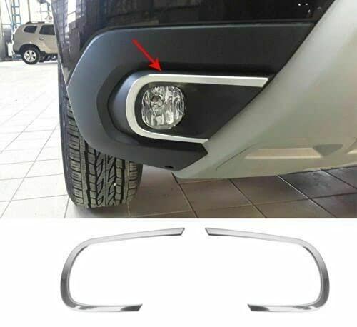 Biotto Auto - Cubiertas de llanta para lámpara antiniebla cromadas, 2 piezas de acero inoxidable compatibles con Dacia Duster 2018Up