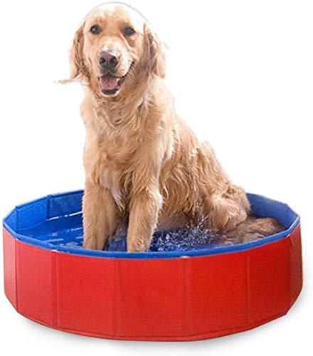 YeeWrr Hundepool fur große Hunde,PVC Katze Hund Schwimmbad Welpen Badewanne rot mehrere Größen erhältlich-60 x 20 cm_rot
