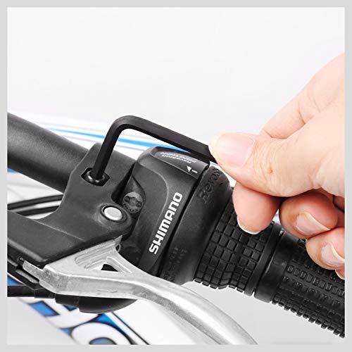 HORUSDY Hex Key Set, Allen Wrench Set Inch/Metric 30-Piece MM(0.7mm-10mm) SAE(0.028