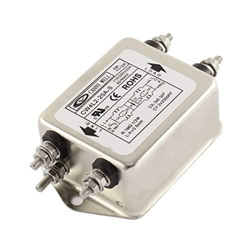 HLin AC 115/250V 20A CW4L2-20A-S Noise Suppressor Power EMI Filter AC Power Line EMI Filter