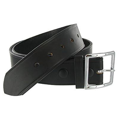 Boston Leather 1.75in. Leather Garrison Belt   44 Black
