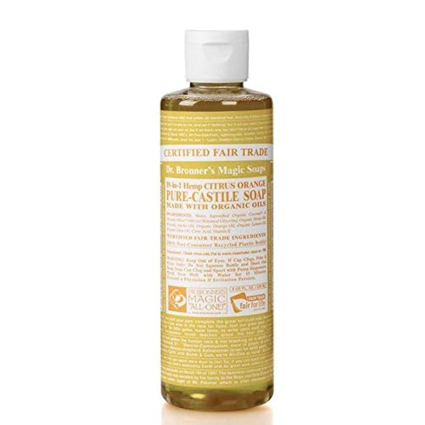 代理人軌道少数[Dr Bronner] Dr。ブロナーズオーガニックシトラスカスティーリャ液体石鹸473ミリリットル - Dr. Bronner's Organic Citrus Castile Liquid Soap 473ml [並行輸入品]