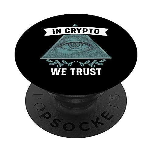 In Crypto We Trust Bitcoin PopSockets PopGrip: Agarre intercambiable para Teléfonos y Tabletas