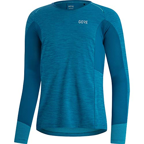 GORE WEAR Camise de manga larga de running Energetic para hombre, S, Azul cobalto