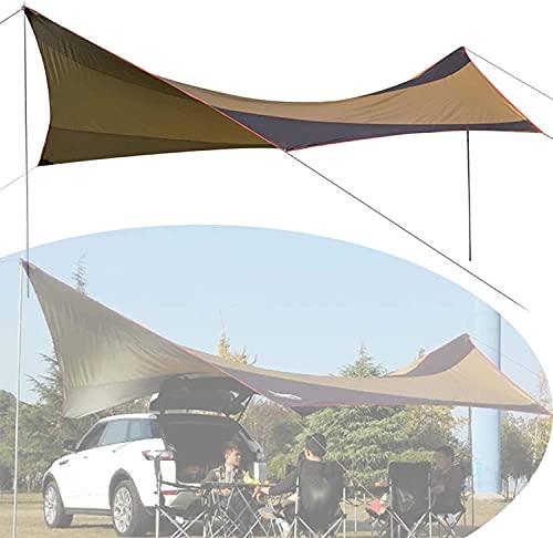 FCPLLTR Patio retráctil Toldo del toldo, cubierta impermeable contra el toldo del sol con el marco de aluminio y la manivela manual, el refugio de la sombra del sol pérgola para el patio, el b