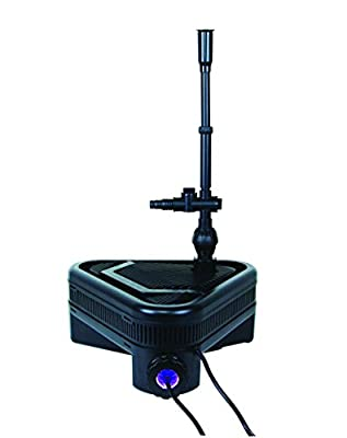 Lifegard Aquatics R442001 One Pond Filter System with Built-in UV, Pump and Fountain Jet, Single