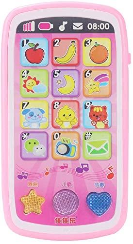 Turtle Story Juguetes simulan dibujos animados pantalla táctil teléfono móvil música rompecabezas educativo juguete para niños rosa, nombre del color: rosa JXNB (color: rosa)