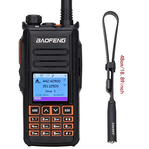 BAOFENG DM-1702B DMR GPS Record Tier 1&2 Dual Time Slot Dual Band Digital/Analog Two Way Radio Compatible with Motorola +Tactical Antenna +Programming Cable