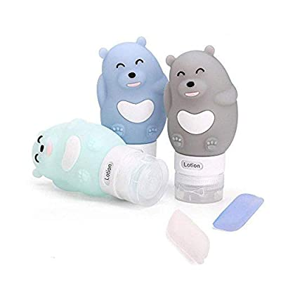 Portable Travel Bottles Set, 3-layer Leakproof and Squeezable Silicone Travel Containers and Toothbrush Cover for Shampoo, Conditioner, Lotion - BPA Free