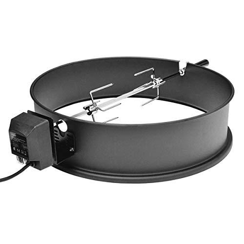 SANTOS Premium Drehspieß Set für Kugelgrill (Ø 57 cm), Black