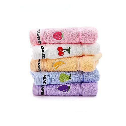 Adeer Gästehandtücher 5er Waschlappen 25 x 50 cm Weich für Baby Kinder Baumwolle