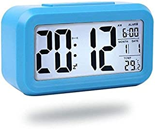 QIANXIANG Digital Alarm Clock, Battery Operated Long Battery Life Alarm Clock, Back Light/Snooze Function/Large Digit Display/Electronic Alarm Clock,for Kids/Heavy Sleepers/Bedroom/Travel-White