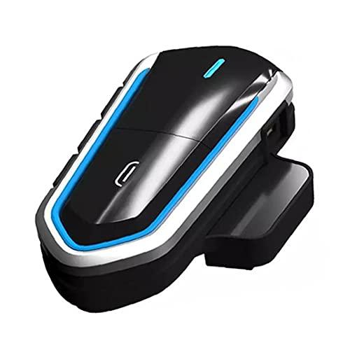 Naisedier Casco Auricular Bluetooth Moto de la Motocicleta Auricular Impermeable Radio FM Casco Auricular inalámbrico de Manos Libres de Llamadas de 2,4 GHz de transmisión es más Estable