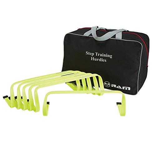 Ram Sports Training Hürden in 15cm – Koordinationshürden Set für Indoor Outdoor - Set von 6 Hürden