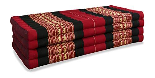 livasia Klappmatratze extrabreit (195cm x 110cm) aus Kapok, Faltbare Gästematratze,...